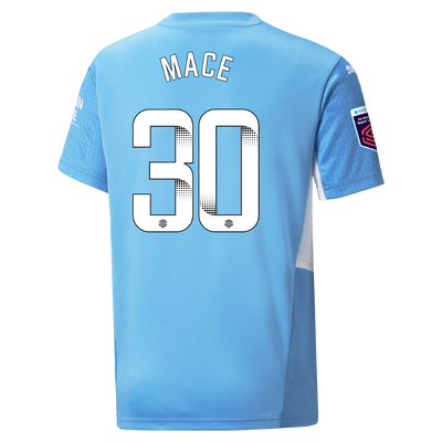 Kids Manchester City Home Shirt 21/22 with Ruby Mace printing