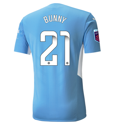 """[Pre-order] Manchester City Authentic Home Shirt 21/22 with Khadija """"Bunny"""" Shaw printing"""