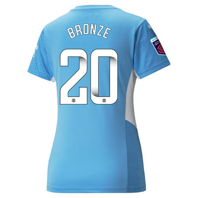 Womens Manchester City Home Shirt 21/22 with Lucy Bronze printing