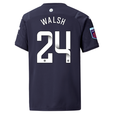 Kids Manchester City 3rd Shirt 21/22 with Keira Walsh printing