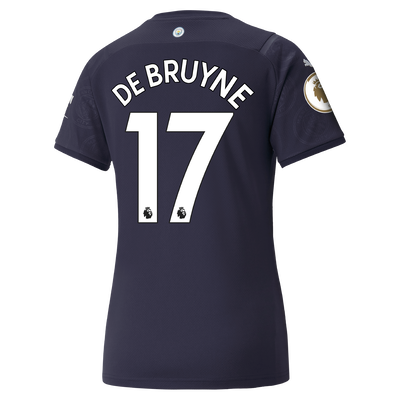 Womens Manchester City 3rd Shirt 21/22 with Kevin de Bruyne printing