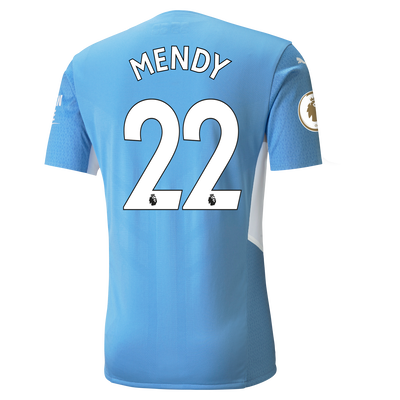 Manchester City Home Authentic Shirt 21/22 with Benjamin Mendy printing