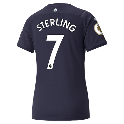 Womens Manchester City 3rd Shirt 21/22 with Raheem Sterling printing
