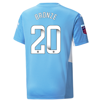 Kids Manchester City Home Shirt 21/22 with Lucy Bronze printing