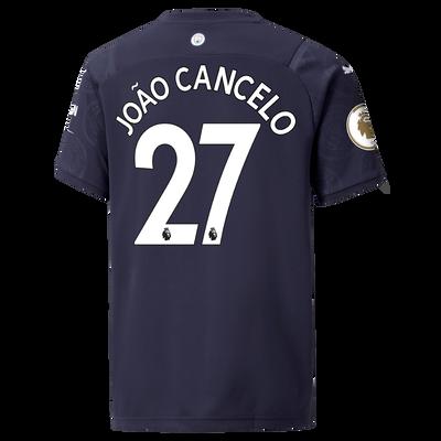 Kids Manchester City 3rd Shirt 21/22 with João Cancelo printing