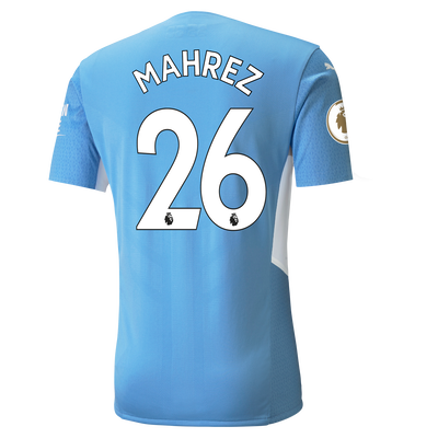 Manchester City Home Authentic Shirt 21/22 with Riyad Mahrez printing