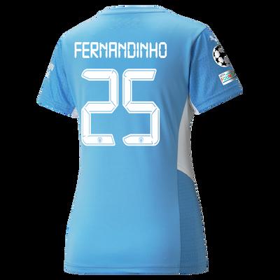 Womens Manchester City Home Shirt 21/22 with Fernandinho printing
