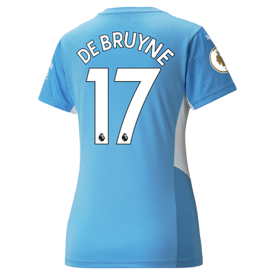 Womens Manchester City Home Shirt 21/22 with Kevin de Bruyne printing