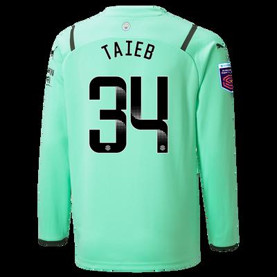 Kids Manchester City Goalkeeper Shirt 21/22 with Karima Benameur Taieb printing
