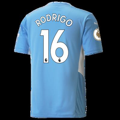 Manchester City Home Shirt 21/22 with Rodrigo printing