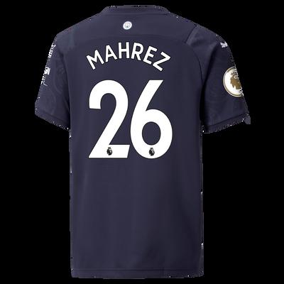 Kids Manchester City 3rd Shirt 21/22 with Riyad Mahrez printing