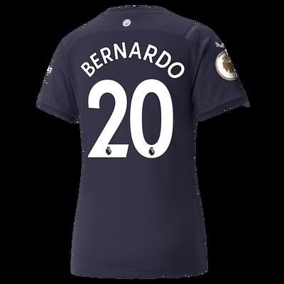 Womens Manchester City 3rd Shirt 21/22 with Bernardo Silva printing