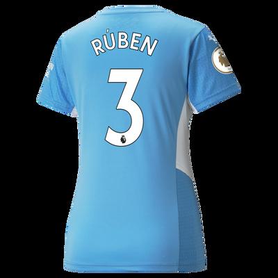 Womens Manchester City Home Shirt 21/22 with Rúben Dias printing