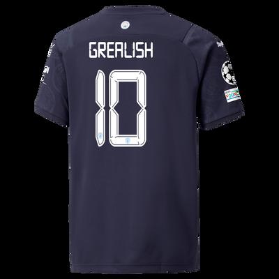 Kids Manchester City 3rd Shirt 21/22 with Jack Grealish printing