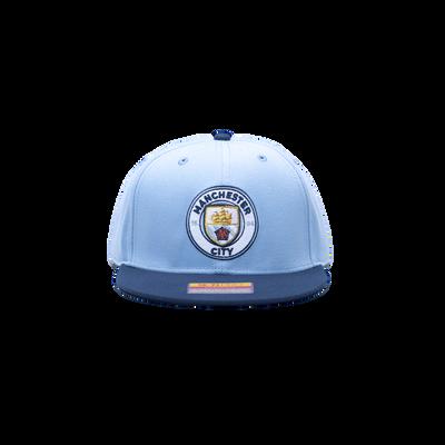 Manchester City Team Snapback Flatbrim Cap