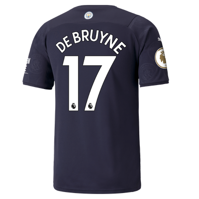 Manchester City 3rd Shirt 21/22 with Kevin de Bruyne printing