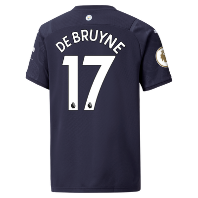 Kids Manchester City 3rd Shirt 21/22 with Kevin de Bruyne printing