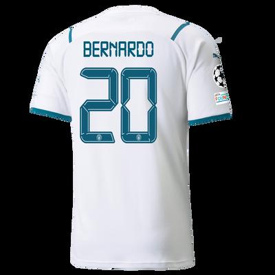 Manchester City Away Shirt 21/22 with Bernardo Silva printing