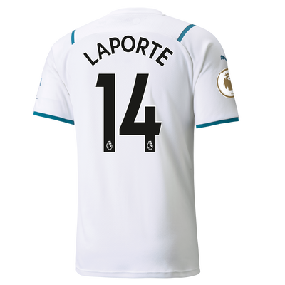 Manchester City Away Shirt 21/22 with Aymeric Laporte printing