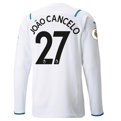 Manchester City Away Shirt Long Sleeve 21/22 with João Cancelo printing