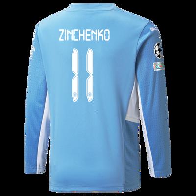 Manchester City Home Longsleeve Shirt 21/22 with Oleksandr Zinchenko printing
