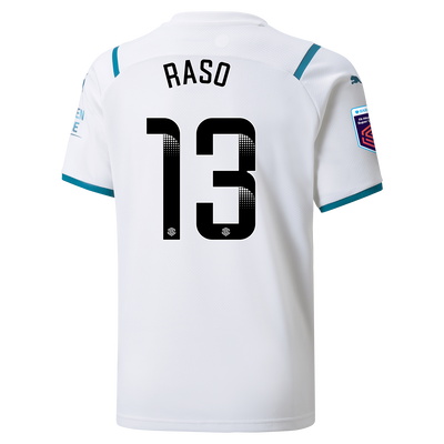 [Pre-order] Kids Manchester City Away Shirt 21/22 with Hayley Raso printing