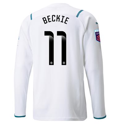 Manchester City Away Shirt Long Sleeve 21/22 with Janine Beckie printing