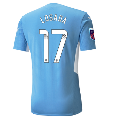 Manchester City Authentic Home Shirt 21/22 with Vicky Losada printing