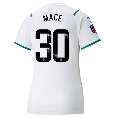 Womens Manchester City Away Shirt 21/22 with Ruby Mace printing