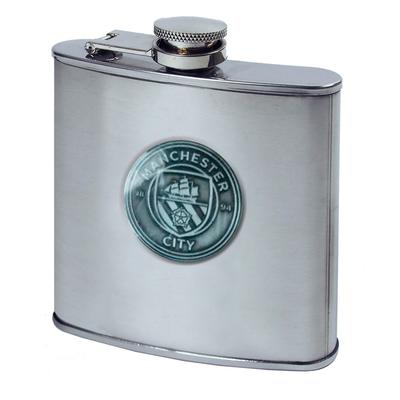Manchester City Crest Hip Flask