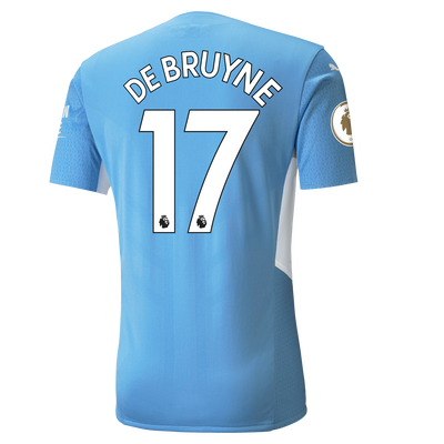 Manchester City Authentic Home Shirt 21/22 with Kevin de Bruyne printing