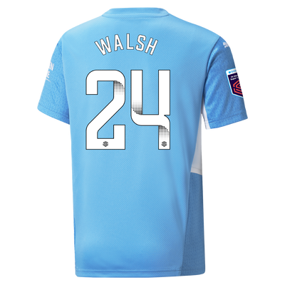 Kids Manchester City Home Shirt 21/22 with Keira Walsh printing