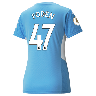 Womens Manchester City Home Shirt 21/22 with Phil Foden printing