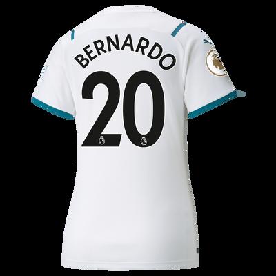 Womens Manchester City Away Shirt 21/22 with Bernardo Silva printing
