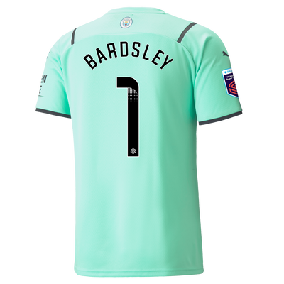 Manchester City Goalkeeper Shirt 21/22 with Karen Bardsley printing