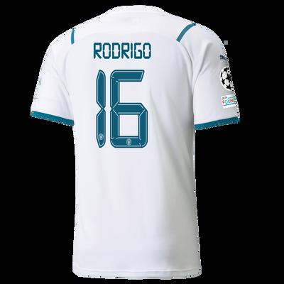 Manchester City Away Shirt 21/22 with Rodrigo printing