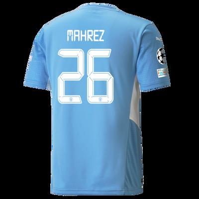 Manchester City Home Shirt 21/22 with Riyad Mahrez printing