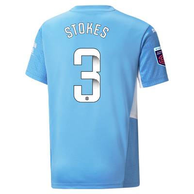 Kids Manchester City Home Shirt 21/22 with Demi Stokes printing