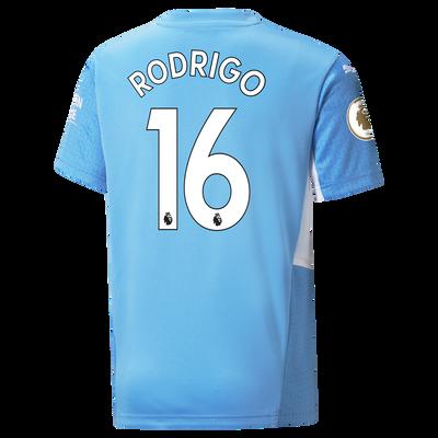 Kids Manchester City Home Shirt 21/22 with Rodrigo printing