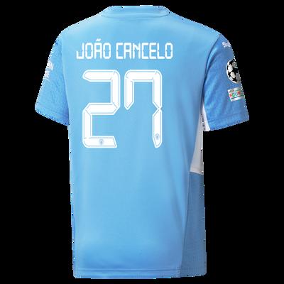 Kids Manchester City Home Shirt 21/22 with João Cancelo printing
