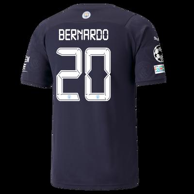 Manchester City 3rd Shirt 21/22 with Bernardo Silva printing