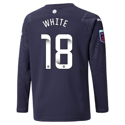 Kids Manchester City 3rd Shirt Long Sleeve 21/22 with Ellen White printing
