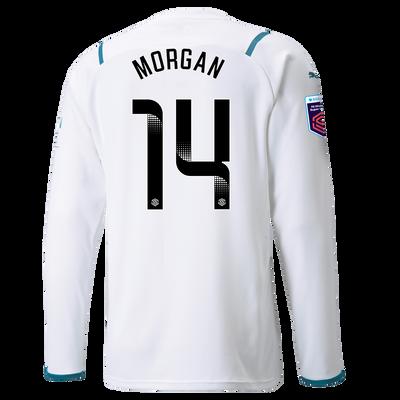 Manchester City Away Shirt Long Sleeve 21/22 with Esme Morgan printing
