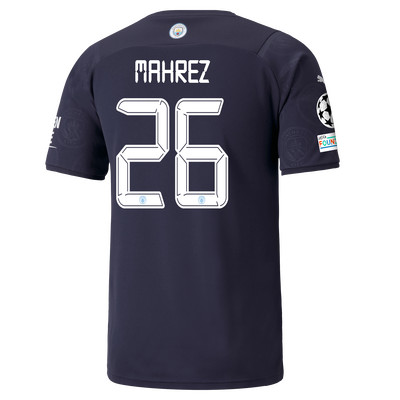 Manchester City 3rd Shirt 21/22 with Riyad Mahrez printing