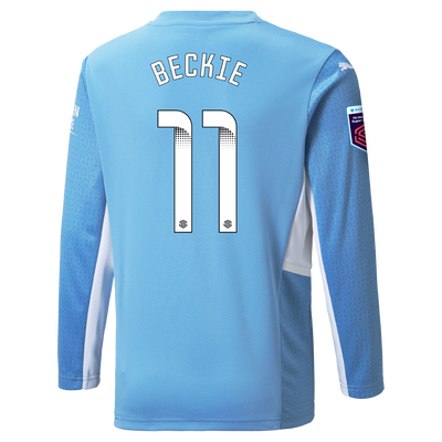 Manchester City Home Shirt Long Sleeve 21/22 with Janine Beckie printing