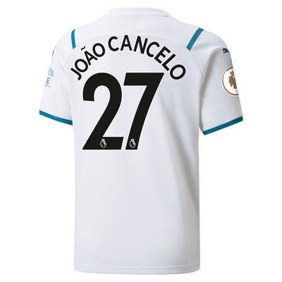 Kids Manchester City Away Shirt 21/22 with João Cancelo printing