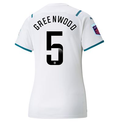 Womens Manchester City Away Shirt 21/22 with Alex Greenwood printing