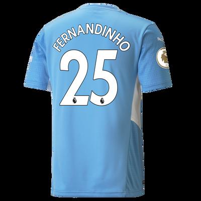 Manchester City Home Shirt 21/22 with Fernandinho printing