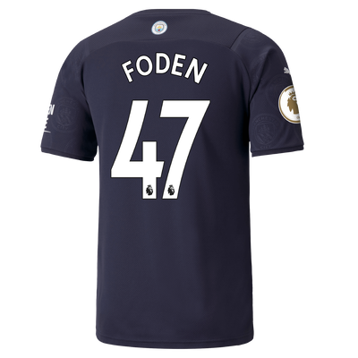 Manchester City 3rd Shirt 21/22 with Phil Foden printing