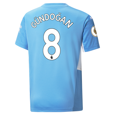 Kids Manchester City Home Shirt 21/22 with İlkay Gündoğan printing